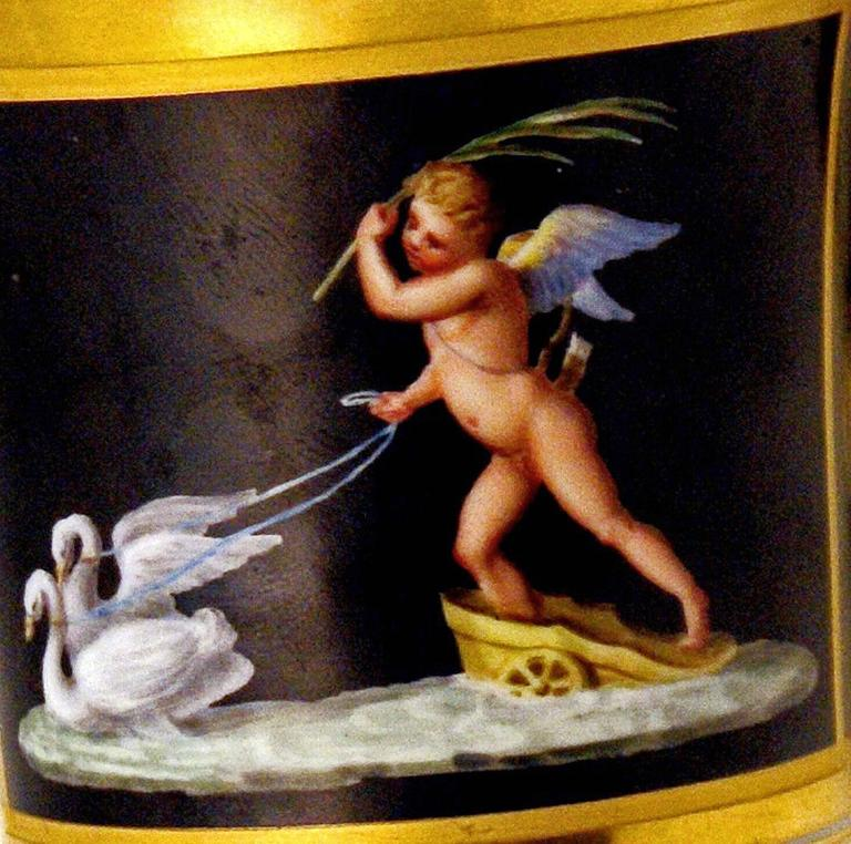 Vienna Imperial Porcelain Cup Saucer Cherubs Driving Chariots Dated 1814 Austria 7