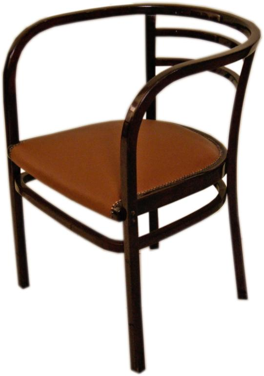Austrian Thonet Vienna Armchair Otto Wagner Art Nouveau Model 6516 made circa 1911 For Sale