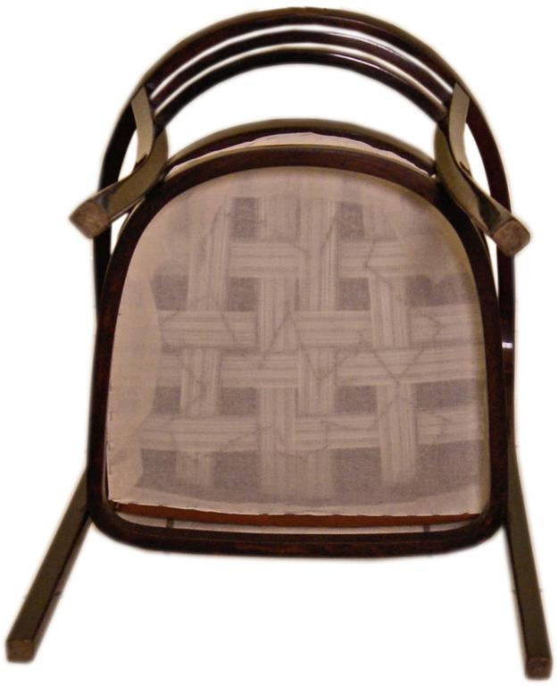 Early 20th Century Thonet Vienna Armchair Otto Wagner Art Nouveau Model 6516 made circa 1911 For Sale