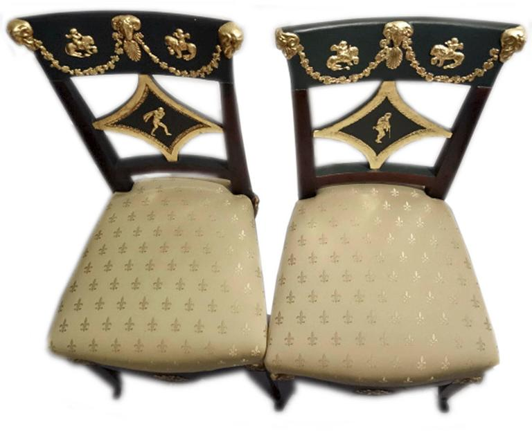 19th Century Danhauser Vienna Biedermeier Parlor Set Four Chairs Two Armchairs Settee 1815 For Sale