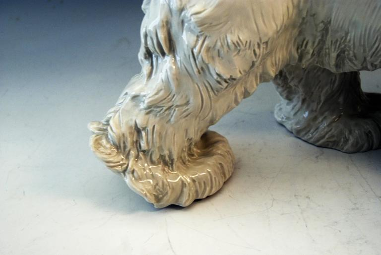 German Meissen Ice Bear Animal Figurine Model T 181 Jarl Otto made circa 1935 For Sale
