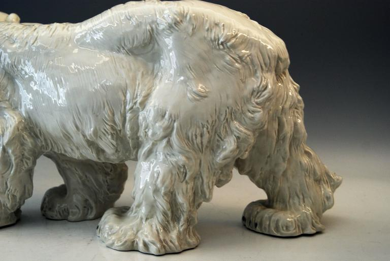 Meissen Ice Bear Animal Figurine Model T 181 Jarl Otto made circa 1935 In Excellent Condition For Sale In Vienna, AT