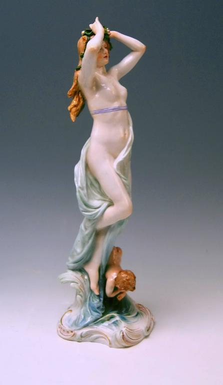 Meissen Birth of Venus Offermann Friedrich Figurine Model R 124  made 1900-1905 2
