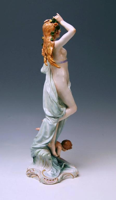 Meissen Birth of Venus Offermann Friedrich Figurine Model R 124  made 1900-1905 3