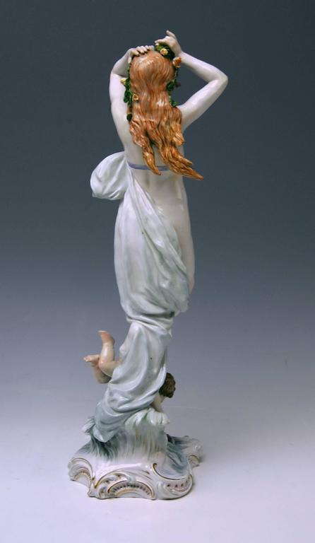 Meissen Birth of Venus Offermann Friedrich Figurine Model R 124  made 1900-1905 4