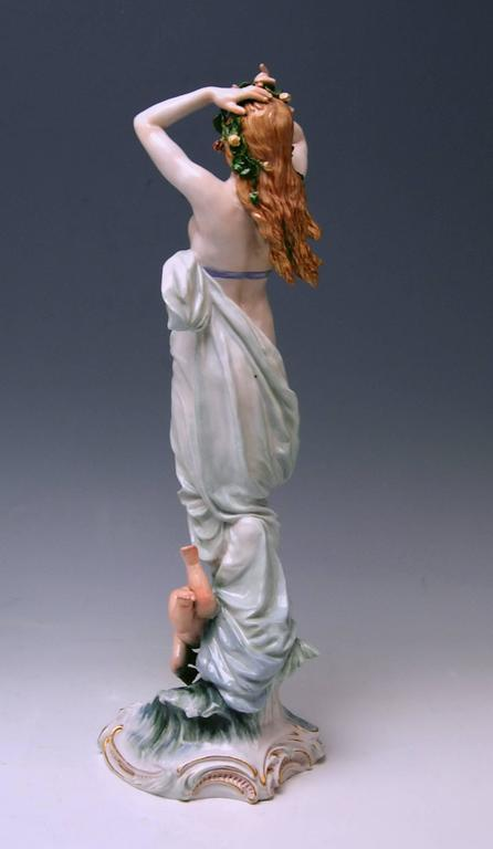 Meissen Birth of Venus Offermann Friedrich Figurine Model R 124  made 1900-1905 5