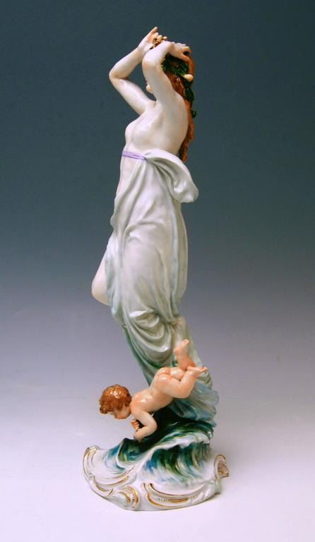 Meissen Birth of Venus Offermann Friedrich Figurine Model R 124  made 1900-1905 6