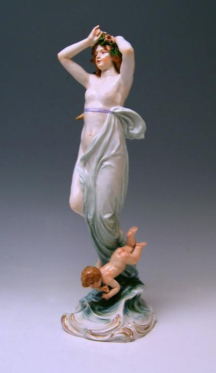 Meissen Birth of Venus Offermann Friedrich Figurine Model R 124  made 1900-1905 8