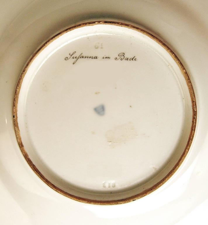 Painted Plate Imperial Viennese Porcelain Painting Susanna and the Elders, 1813 For Sale