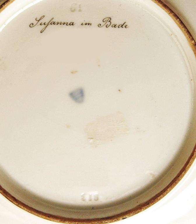 Plate Imperial Viennese Porcelain Painting Susanna and the Elders, 1813 In Excellent Condition For Sale In Vienna, AT