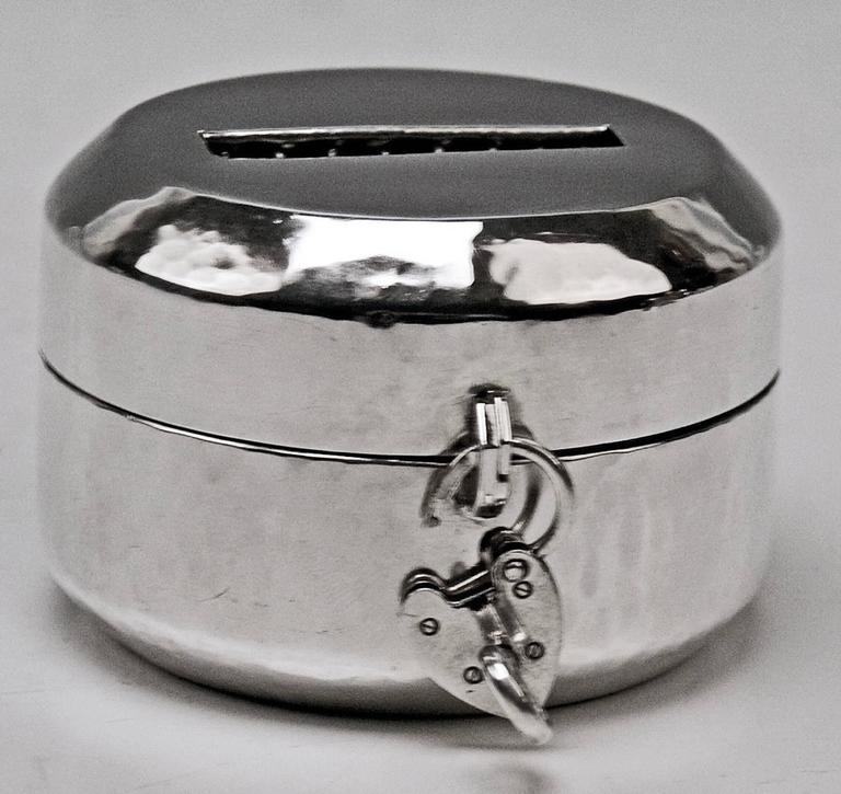Money Box Piggy Bank Silver 830 Art Deco Jacob Grimminger
