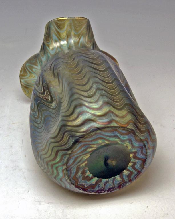 Glass Vase Loetz Widow Klostermuehle Bohemia Art Nouveau Decor Crete PG 6893 made 1900 For Sale