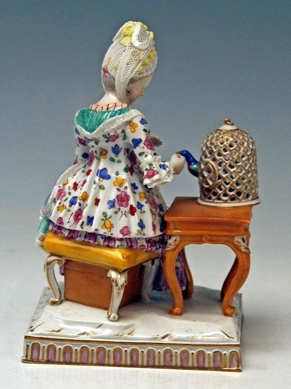 German Meissen Five Senses the Feeling by Schoenheit Model E4, circa 1840-1850 For Sale
