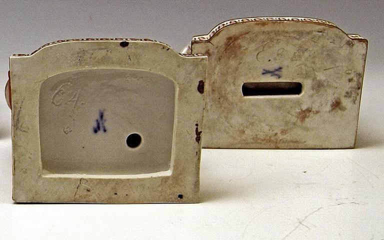 Porcelain Meissen Rare Complete Series of Five Senses by Schoenheit Models E 1-5 For Sale
