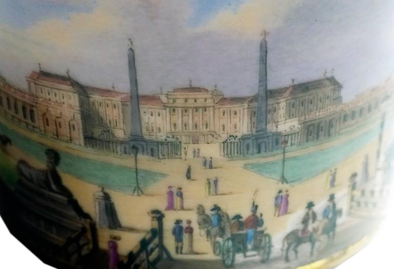 Vienna Imperial Porcelain Cup Saucer Schönbrunn Castle, Austria, 1811 4