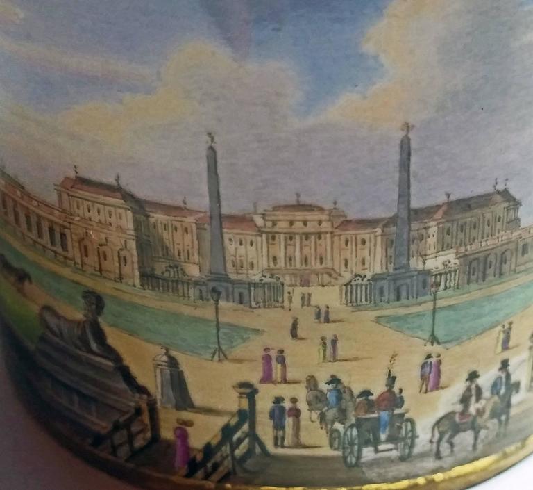Vienna Imperial Porcelain Cup Saucer Schönbrunn Castle, Austria, 1811 5