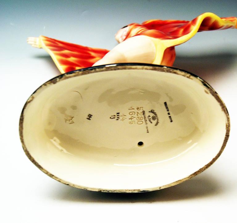 Goldscheider Vienna Lorenzl Dancing Butterfly Lady Captured Bird Nr. 5230 7