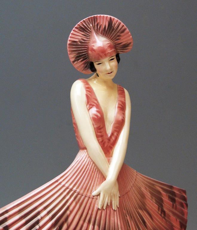 Goldscheider Vienna Stefan Dakon Spanish Lady Dancer Fan-Shaped Dress 4
