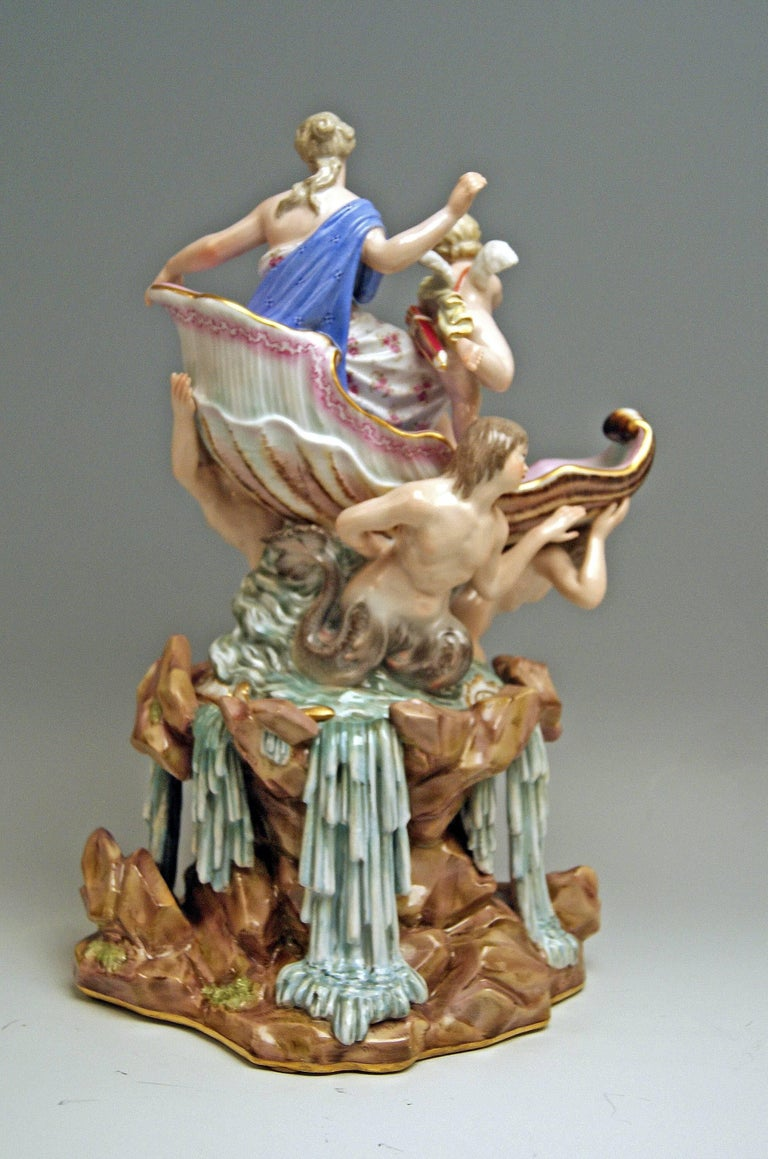 Meissen Triumph of Venus Model 127 Kaendler Kändler Johann Joachim made c. 1860 4