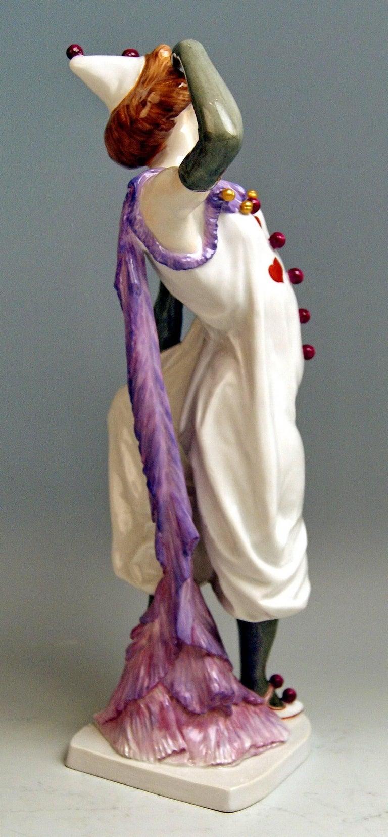German Meissen Pierrette Model Y 165 Wiegand Martin Tall Figurine Made, 1909-1915 For Sale