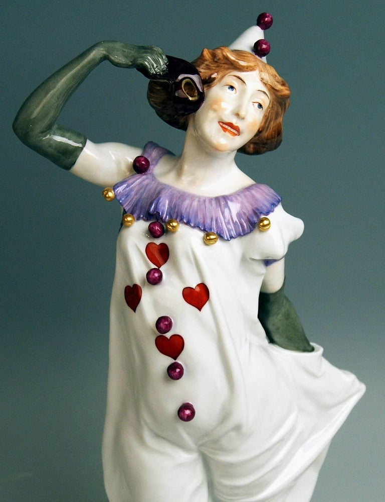 Meissen Pierrette Model Y 165 Wiegand Martin Tall Figurine Made, 1909-1915 In Excellent Condition For Sale In Vienna, AT