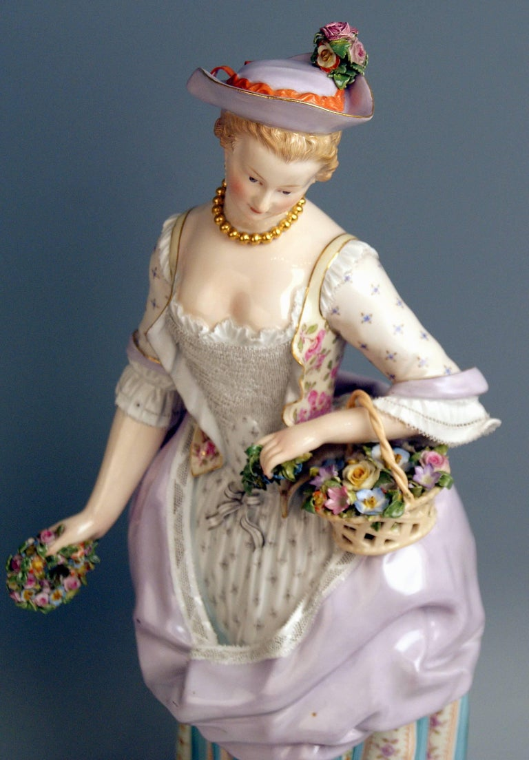 Meissen Two Gardeners Male Female Models 2868 B 65 Kaendler 20 inches made 1870 4