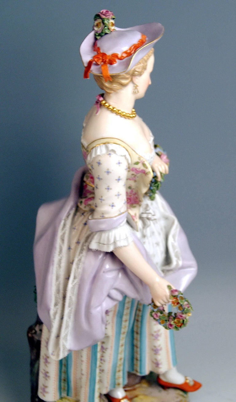Meissen Two Gardeners Male Female Models 2868 B 65 Kaendler 20 inches made 1870 5