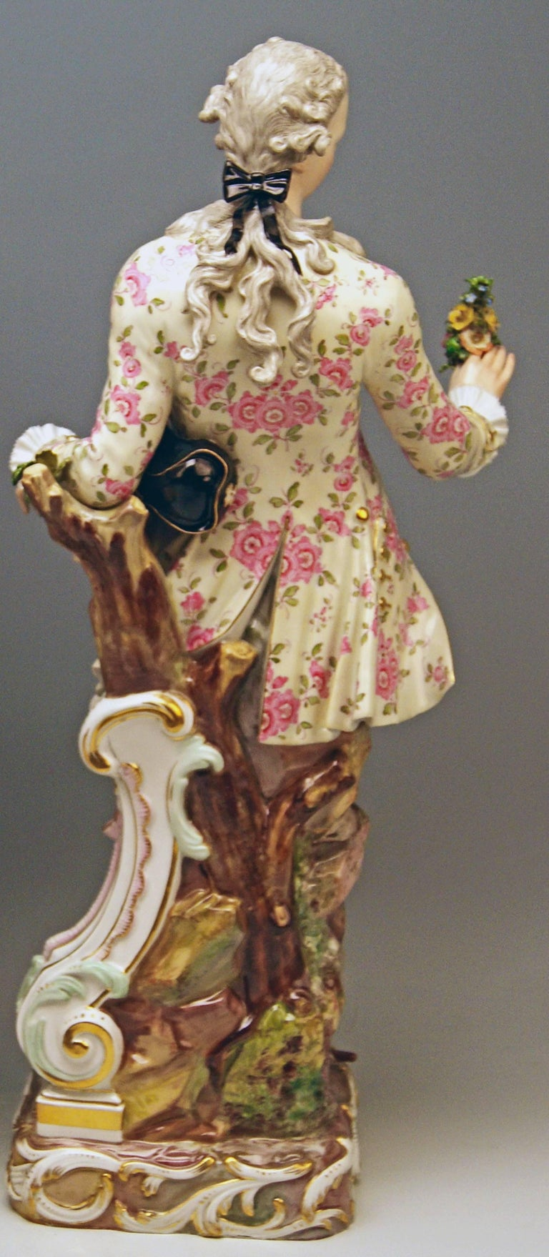Meissen Two Gardeners Male Female Models 2868 B 65 Kaendler 20 inches made 1870 For Sale 1