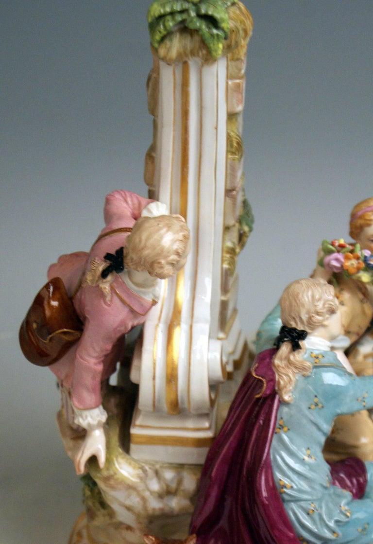 Meissen Shepherds Figurines Model 2870 Johann Joachim Kaendler, circa 1850 For Sale 1