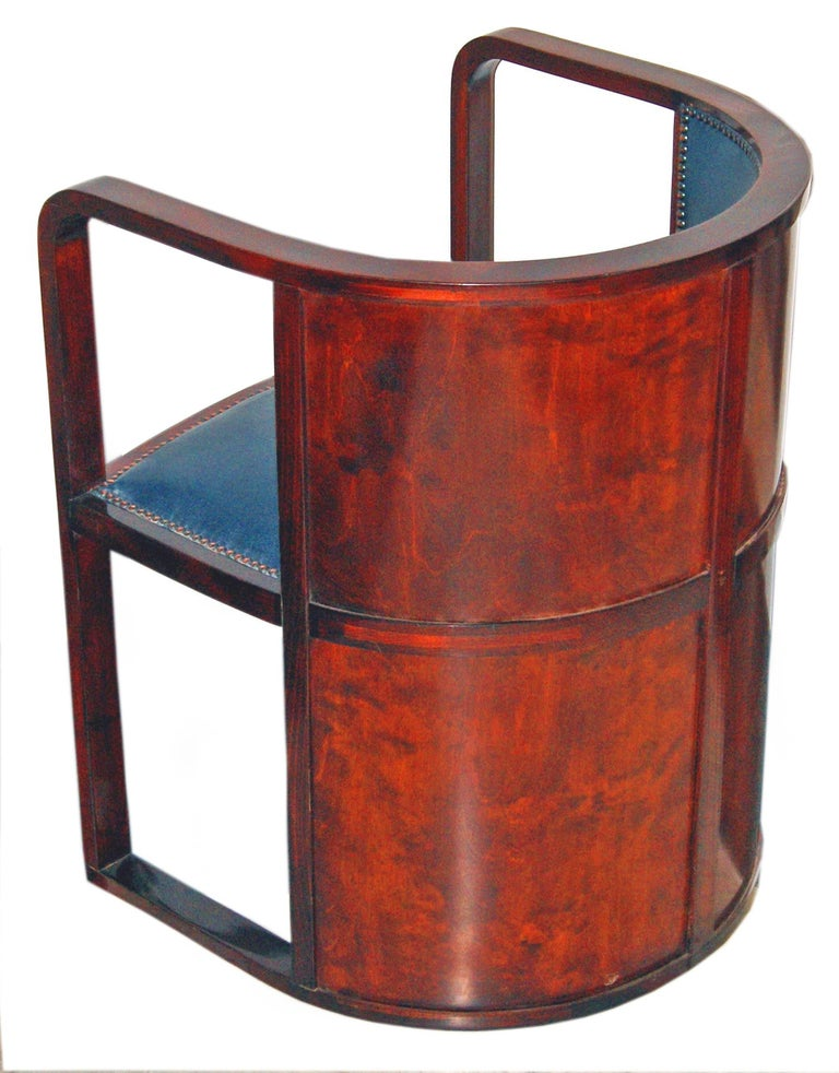 Josef Hoffmann Armchair Kohn 421 Vienna Mahogany Stained Green Leather Made 1910 6