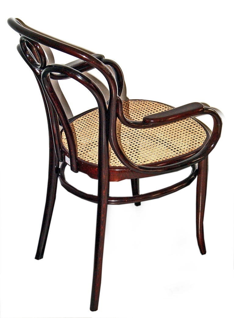 Art Nouveau Bentwood Armchair 36 J. & J. Kohn Vienna Mahogany Stained Made 1905 In Excellent Condition For Sale In Vienna, AT