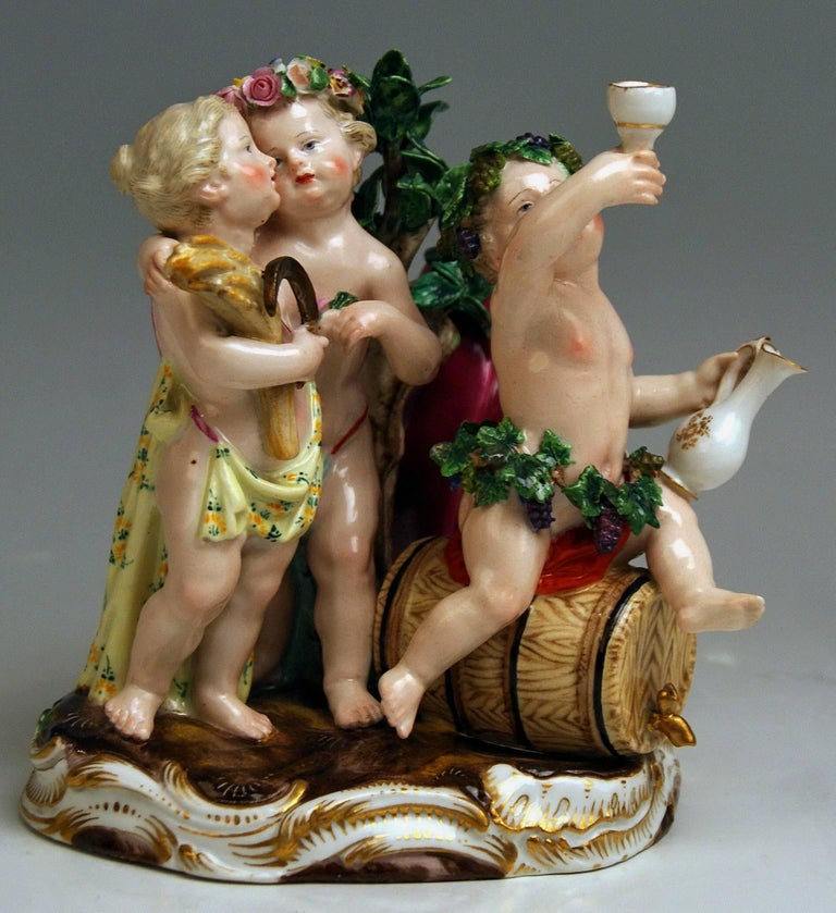 Meissen the Four Seasons Model 1068 Johann Joachim Kaendler Made circa 1850-1860 2