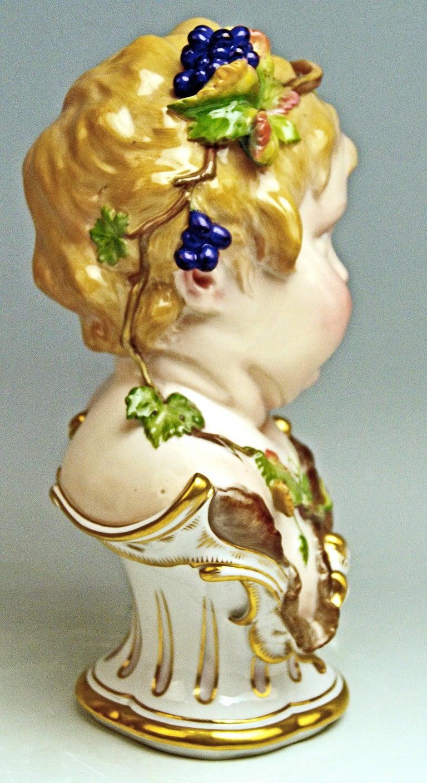 Meissen Child Bust Season Figurine Autumn Fall Model K 177, Schwabe, circa 1880 5