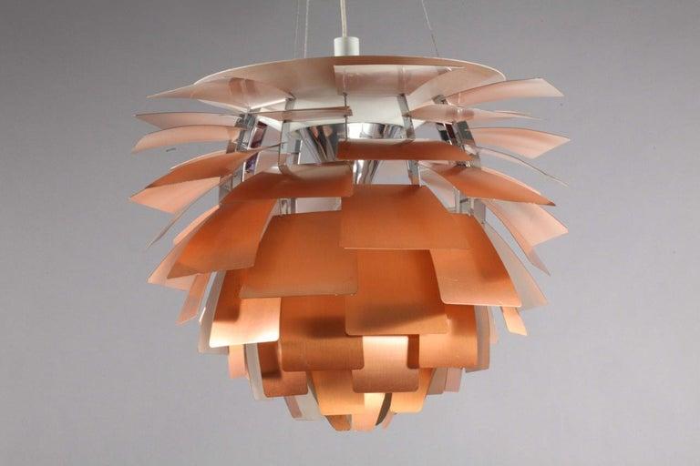 Danish Original Monumental Poul Henningsen Copper PH Artichoke Chandelier Louis Poulsen For Sale