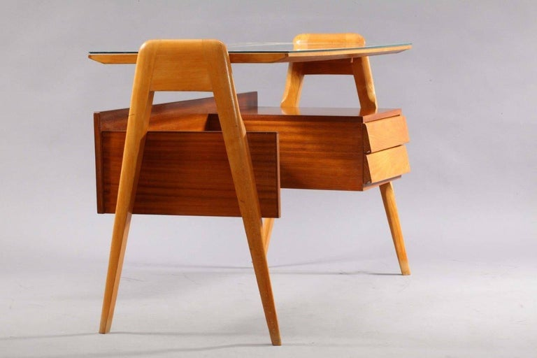 Mid-Century Modern Writing Desk Designed by Vittorio Dassi, Italy, 1950 For Sale