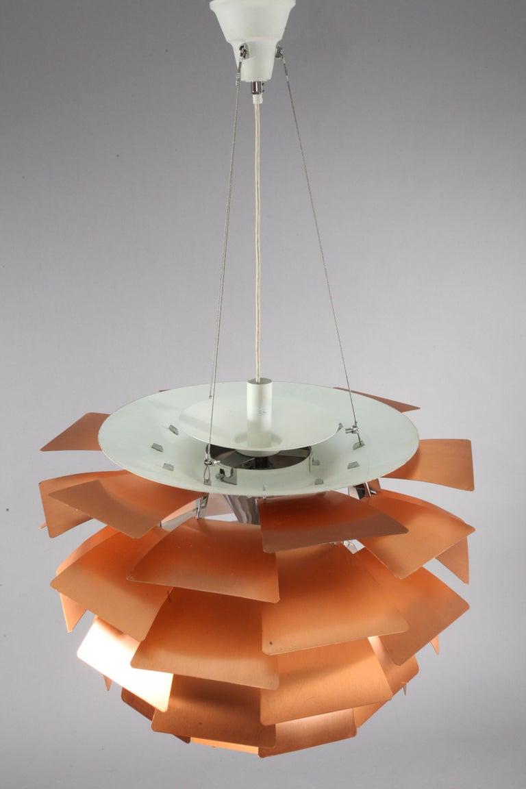 Original Monumental Poul Henningsen Copper PH Artichoke Chandelier Louis Poulsen For Sale 1