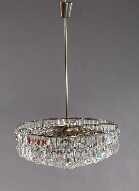 Huge midcentury bakalowits crystal chandelier vienna 1960 at 1stdibs mid century modern huge midcentury bakalowits crystal chandelier vienna 1960 for sale aloadofball Images