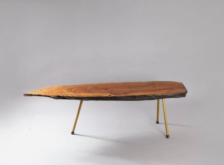 Huge Viennese Tree Trunk Table by Modernist Carl Auböck, Vienna, 1950 2