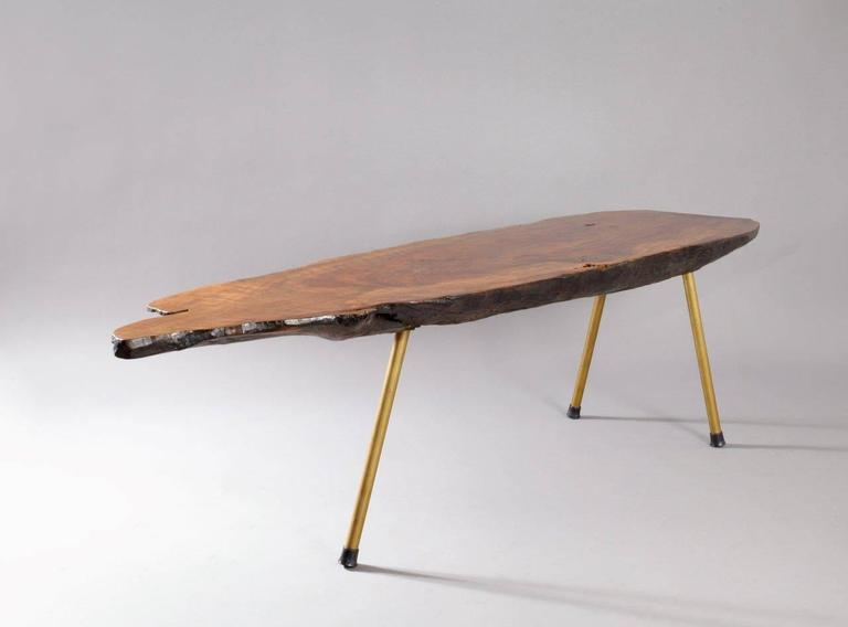 Huge Viennese Tree Trunk Table by Modernist Carl Auböck, Vienna, 1950 8