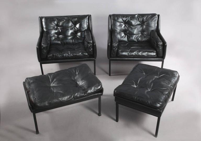 Lounger and Ottoman by WK Möbel, Vienna, 1950 at 1stdibs