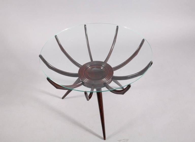 Mid-Century Modern Charming Coffee Table Attributed to Carlo de Carli, Italy, circa 1952 For Sale
