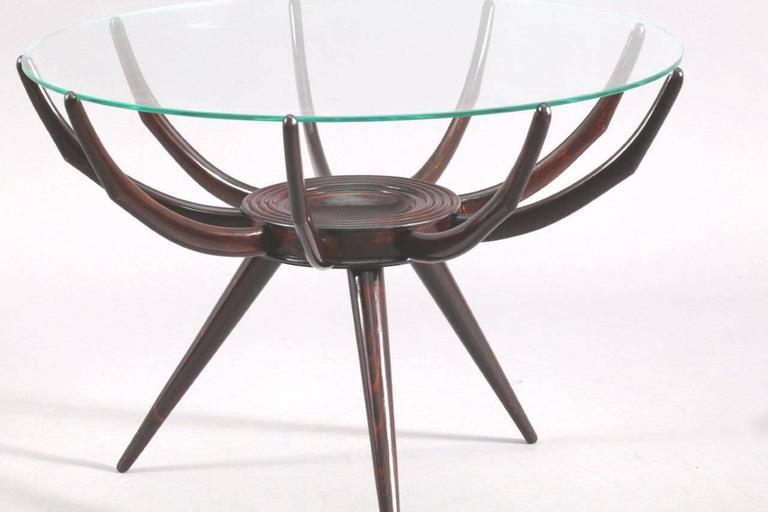 Italian Charming Coffee Table Attributed to Carlo de Carli, Italy, circa 1952 For Sale