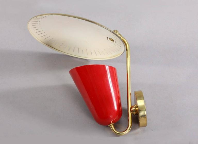 Charming Italian Wall Lamp Attributed Arredoluce, Italy In Excellent Condition For Sale In Vienna, Vienna