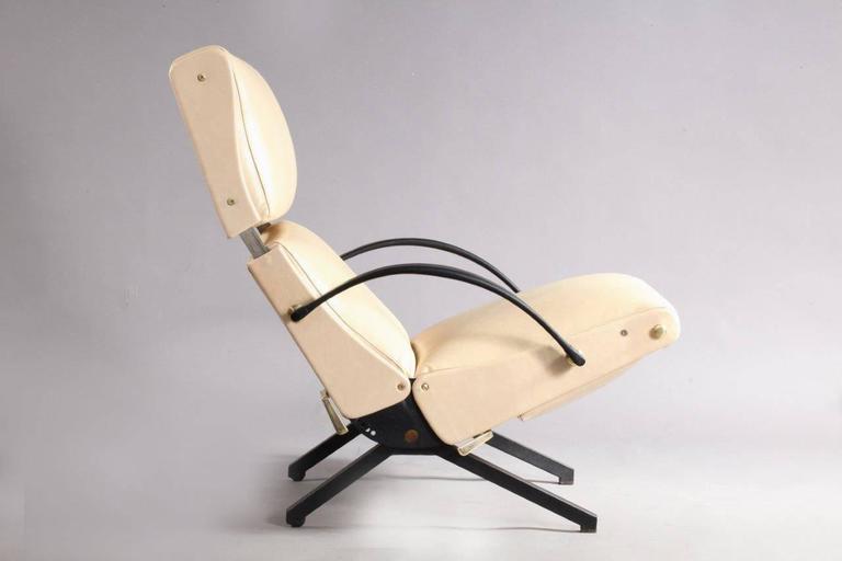 1950 Osvaldo Borsani P40 Relaxing System Leather Armchair 2