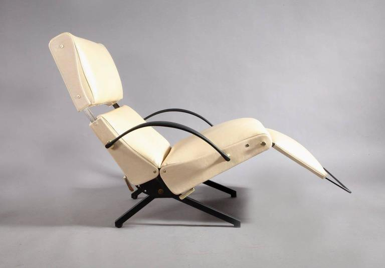 1950 Osvaldo Borsani P40 Relaxing System Leather Armchair 8