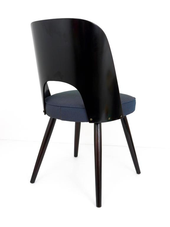 Czech Set of Six Modernist Dining Chairs by Oswald Haerdtl, Ton, 1950s For Sale
