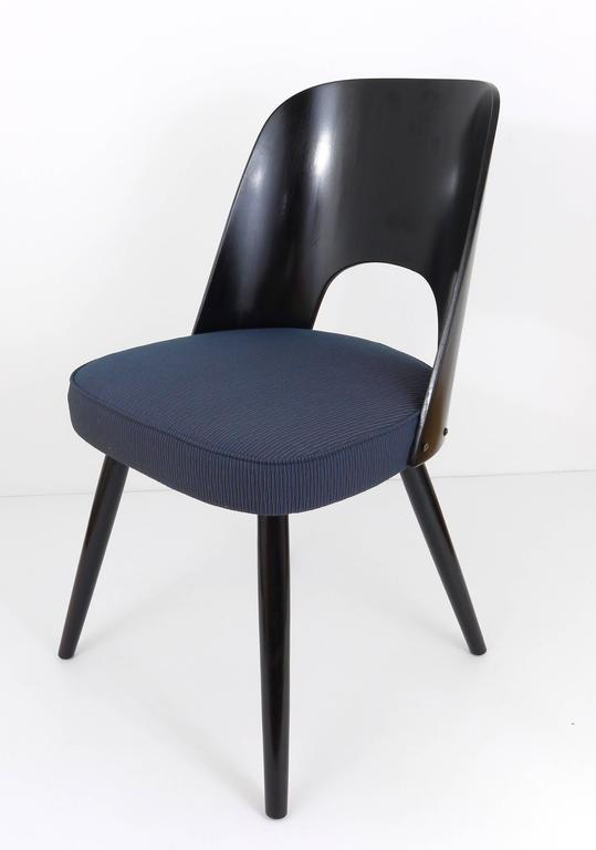 Mid-Century Modern Set of Six Modernist Dining Chairs by Oswald Haerdtl, Ton, 1950s For Sale
