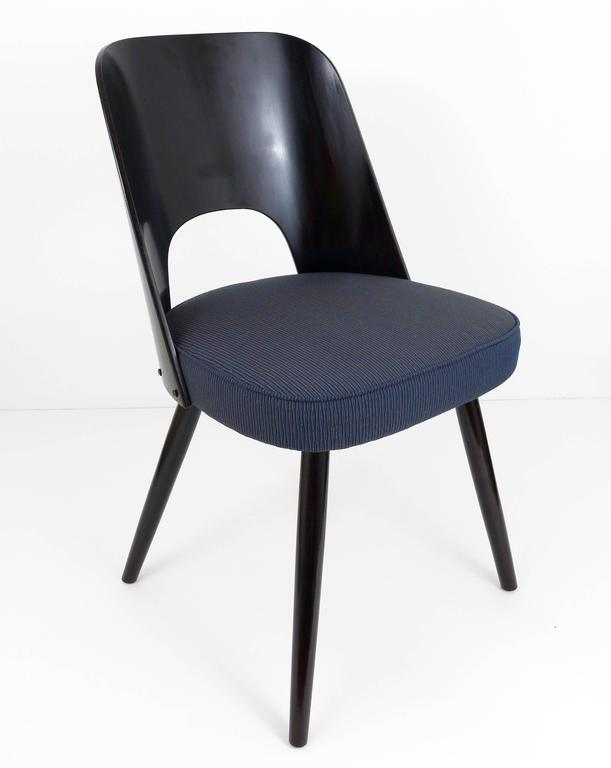Wood Set of Six Modernist Dining Chairs by Oswald Haerdtl, Ton, 1950s For Sale