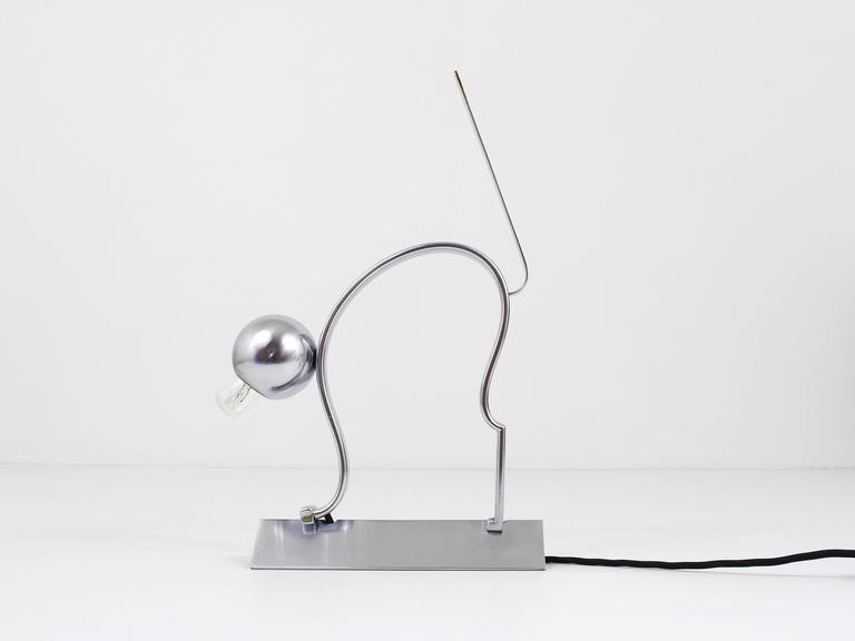 Mid-20th Century 1930s Art Deco Cat Sculpture Table Lamp in the Manner of Hagenauer For Sale