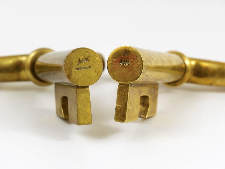 Big Carl Auböck Extra Large Brass Key Cork Screw, Bottle Opener, Austria, 1950s For Sale 1